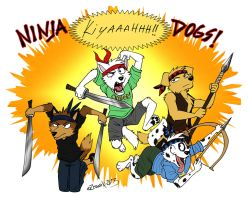 Ninja Dawgs! by Zerwolf