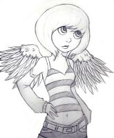 Angel-lineart by redelisa