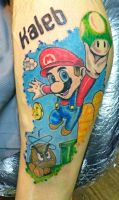 Mario Tattoo by derhenker13