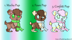 .:Scarfed Pup Adopts:.  Open by cappucinii