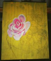 flower canvas painting by catherinetseng