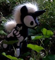Skeletal Unicorn Plushie by Trinkety
