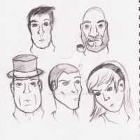 Practice sketches: Faces by FlamesUnleashed