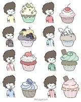 harry and the latino cupcakes by milamint