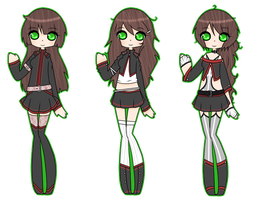 Custom: 3 outfits by Acetylace-Adopts