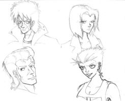 Post-Apoc Character Sketches by good-ol-boy