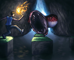 Mike vs. the C-Serpent by FriendlyWarlord