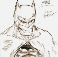 Batman sketch by Skullsketcher