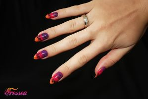 Sunset nails by eresseayesta
