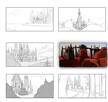 landscape sketches by Project-KMR