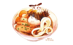 udon with banana and me by kd-n