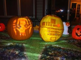 Star wars Jack-o-lanterns by LamieG