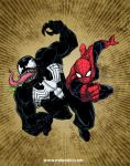 Spiderman vs Venom 2012 by mdavidct