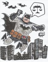 The Caped Crusader by Atomic-Doodler