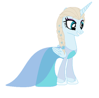 Ponified Elsa in a dress by StormDragon3
