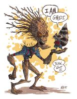 RR and Groot by OtisFrampton