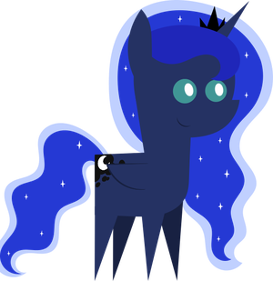 Pointy Pony: Princess Luna by MyPaintedMelody