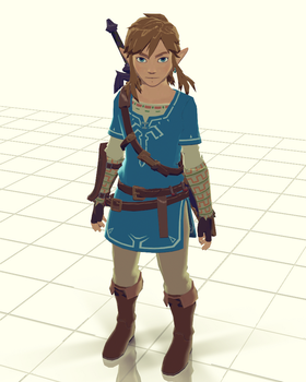 [MMD] Link(Breath of the Wild) DL by GrossREDink