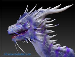 Blua Dragon Head 2 by Decadia