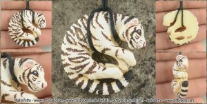 White Tiger Necklace by Chaotica-I