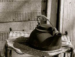 cast iron kettle by DramaQueenB