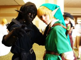 Link and Dark Link by MoreThanKarisma