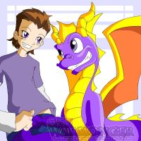 Spyro and Arin - Skylanders Portal Masters by Chibi-Warmonger