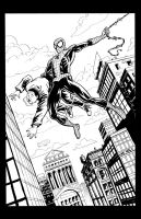 Spidey Commission Inks by lukeradl