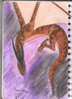 Brown Wyvern by Frogata
