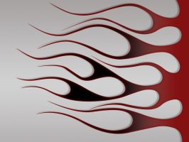 Flames - blackcherry on gray by jbensch