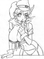 Cowgirl Random Sketch 13-07-15 by Mortadela