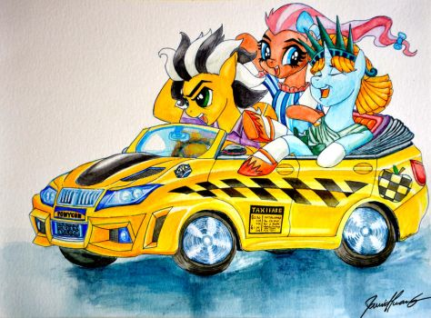 Ponycon Mascots - Liberty, Cabbie and Bowtie by Invalid-David