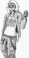 Icy Drink (Pencil) by EzzyAlpha