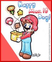 Happy Mario Day 2015 by BabyAbbieStar