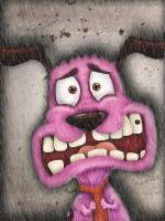 Courage the Cowardly Dog by EvilLera