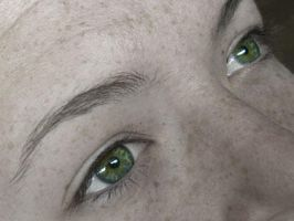 Naked Green Eyes by bjjlenore