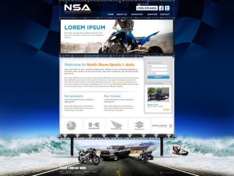 Web Design: NSA by VictoryDesign