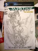 Wonder Woman cover pencils by MichaelDooney