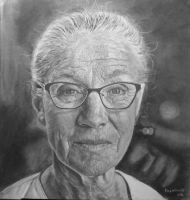 old lady by olasajan