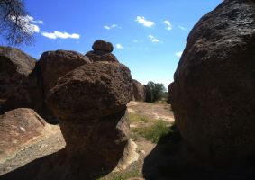 Boulders at the City of Rocks by SharPhotography