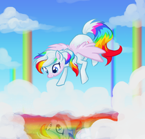 Rainbow and Clouds by Bedupolker