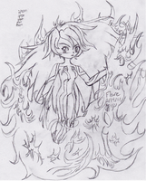 GC: Flare art request sketch by NobodysWanderingSoul