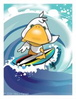 Duck Surf by LadySarena