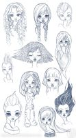 Scribbles Cute Faces 2010 by Arahiriel
