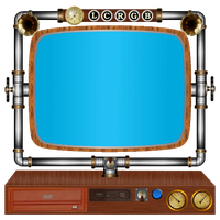 steampunk computer and screen icons by pendragon1966