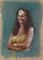 Lynda Carter Wonder Woman by JeffLafferty