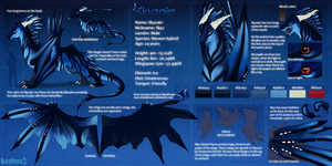Skyzairr - Character reference sheet by Nereiix