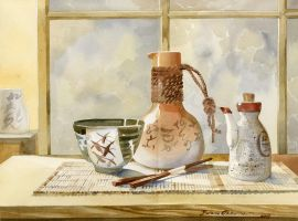 Still Life Japanese Influence by LenaAkhumova
