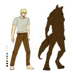 Werewolf Reference :Commission: by Missvirginia