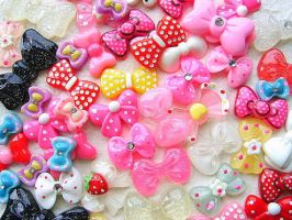 Kawaii Cabochons MIX 50 Bows by souzoucreations